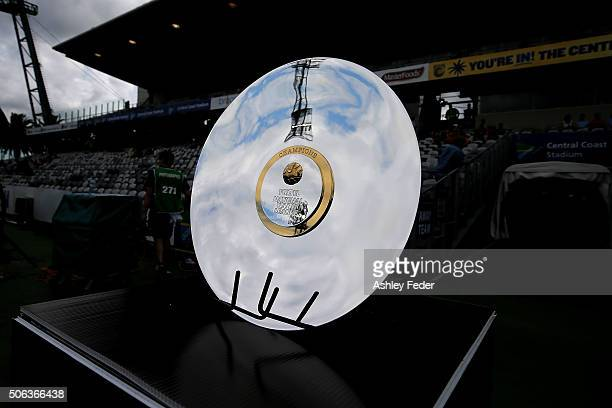 The Youth League Trophy during the National Youth League Final match between Adelaide United and Sydney FC at Central Coast Stadium on January 23...