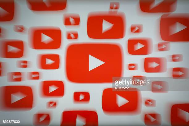 The YouTube video app is seen on various digital devices on 28 March 2017