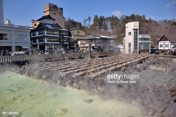 the yubatake - gunma prefecture stock photos and pictures