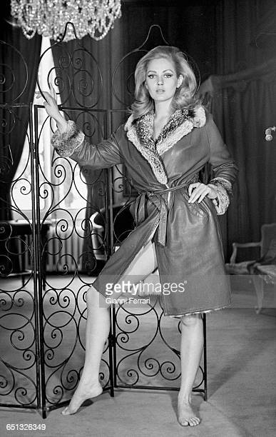 The Yugoslav actress Beba Loncar during a photoshoot Madrid Spain