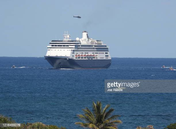 The Zaandam cruise ship prepares to come into Port Everglades on April 02 2020 in Fort Lauderdale Florida The Holland America cruise ship had been at...