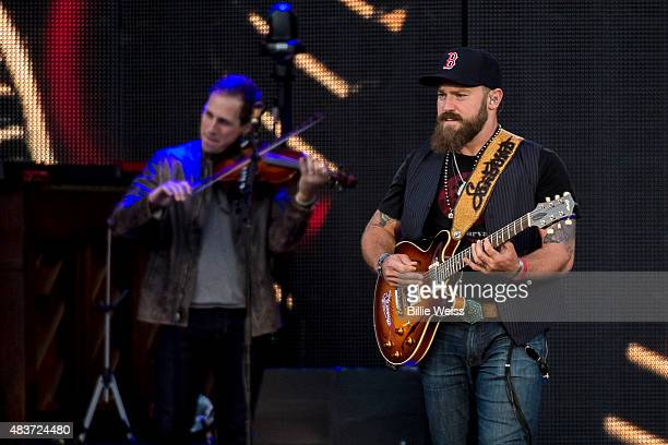 The Zac Brown Band performs at Fenway Park during the Major League Baseball Ballpark Concert Series during the JEKYLL HYDE tour on Friday August 7...