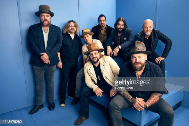 The Zac Brown Band poses for a portrait during the 2019 CMT Music Awards at Bridgestone Arena on June 5 2019 in Nashville Tennessee
