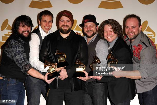 The Zac Brown Band poses in the press room at the 52nd Annual GRAMMY Awards held at Staples Center on January 31, 2010 in Los Angeles, California.