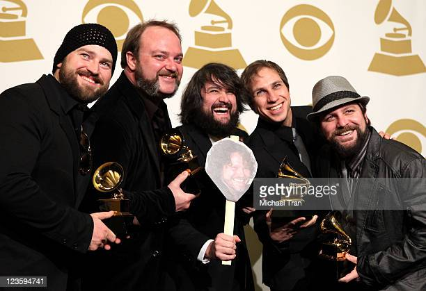 The Zac Brown Band poses in the press room at The 53rd Annual GRAMMY Awards held at Staples Center on February 13 2011 in Los Angeles California