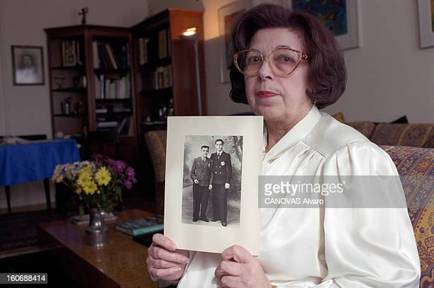 The Zaidman Jewish With Family From Poland Living In France Witch Father And Son Died In Deportation During The War 3945 En France en avril 2000...