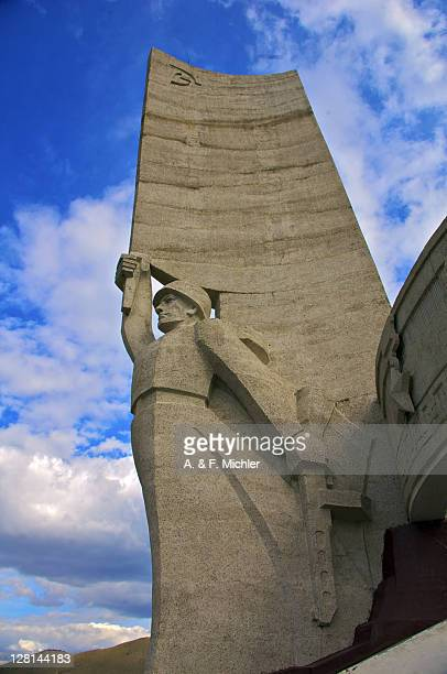 the zaisan memorial. a memorial to russian soldiers killed in world war ii. ulan bator, mongolia - mongolian models stock pictures, royalty-free photos & images