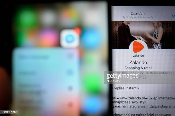 The Zalando application is seen on a portable device in this photo illustration on December 1 2017 Zalanod and several other companies have now...