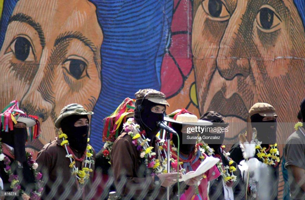 Zapatista Leaders Arrive in Xochimilco, Mexico City : News Photo