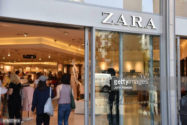 The Zara fashion retail shop entrance on Oxford Street on June 11, 2018 in London, England.