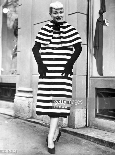 The zebracrossing woollen coat from Balenciaga of Paris