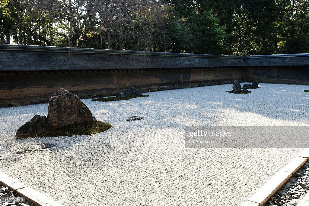 Temple Gradens in Kyoto,Japan : News Photo