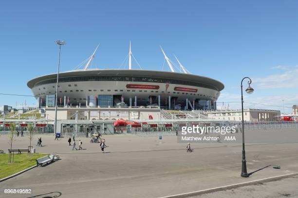 The Zenit Arena / The Krestovsky Stadium home of FC Zenit Saint Petersburg on the western portion of Krestovsky Island in Saint Petersburg Russia...
