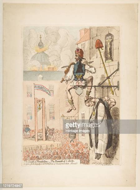 The Zenith of French Glory; - the Pinnacle of Liberty, February 12, 1793. Artist James Gillray.