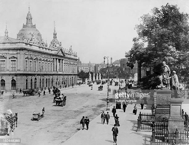 The Zeughaus or Arsenal in Berlin Germany with the Supreme Parish and Cathedral Church visible behind it circa 1905