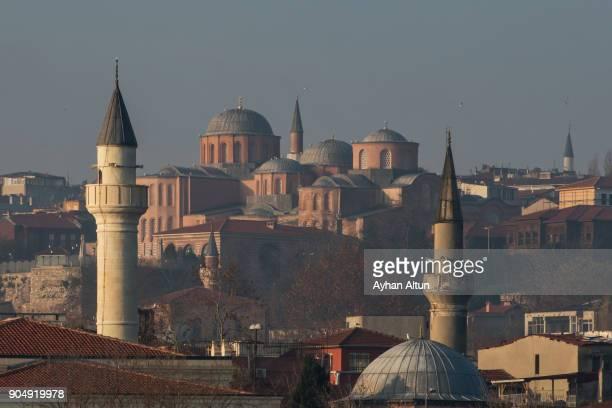 The Zeyrek Mosque(Monastery of the Pantocrator) through minarets ,Istanbul,Turkey