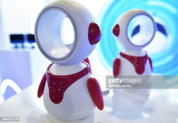 The ZIBZ Intelligent Robot for kids is seen during CES 2018 in Las Vegas on January 10 2018 The device offers various functions including...