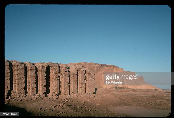The ziggurat at Ur of the Chaldees the ancient capital of Sumer Iraq