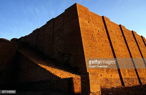The ziggurat at Ur, supoosedly the city of the prophet Abraham's birth. Ur was a principal city of ancient Mesopotamia. The Ziggurat was dedicated to...
