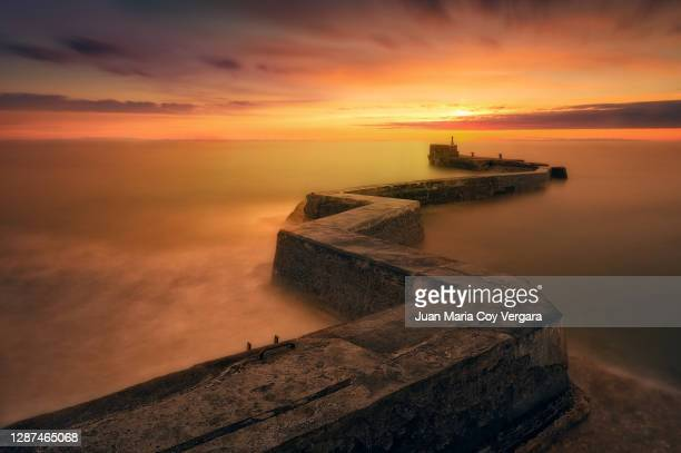 the zigzag - st monans (scotland, united kingdom) - seascape stock pictures, royalty-free photos & images
