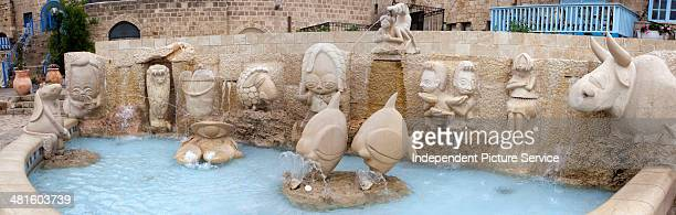 The Zodiac Fountain in Kedumim Square in Old Jaffa Tel Aviv Israel