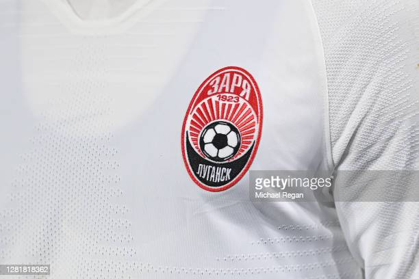 The Zorya Luhansk badge during the UEFA Europa League Group G stage match between Leicester City and Zorya Luhansk at The King Power Stadium on...