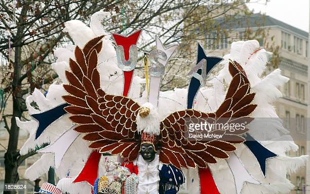 The Zulu Duke America rides in the Zulu parade on Fat Tuesday during Mardi Gras celebrations March 4 2003 in New Orleans Louisiana Mardi Gras means...