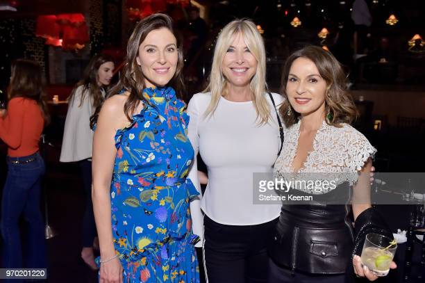 Thea Andreas Irena Medavoy and Angella Nazarian at the Casamigos House of Friends Dinner on June 8 2018 in Hollywood California