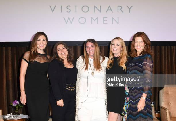 Thea Andrew Morgan Hakimi Shannon Mattingly Nathanson Cara Kleinhaut and Alison Brettschneider attend Visionary Women Presents The New Normal How...