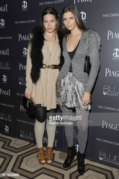 Thea Carley and Alejandra Cata attend THE CINEMA SOCIETY PIAGET with DELEON Tequila host a screening of 'BLUE VALENTINE' at Tribeca Grand Hotel on...
