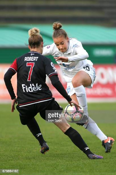 Thea Greboval during the Women's Division 1 match between Juvisy and Guingamp on May 6, 2017 in Evry, France.