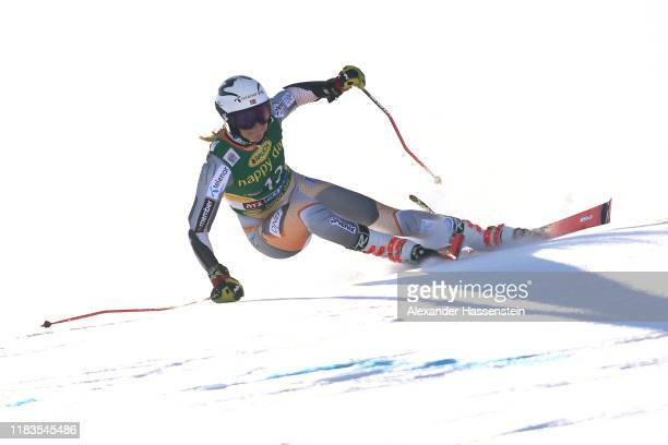 Thea Louise Stjernesund of Norway competes during the Audi FIS Alpine Ski World Cup Women's Giant Slalom at Rettenbachferner on October 26 2019 in...