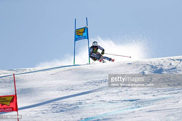 Thea Louise Stjernesund of Norway in action during the Audi FIS Alpine Ski World Cup Women's Giant Slalom on October 26, 2019 in Soelden, Austria.
