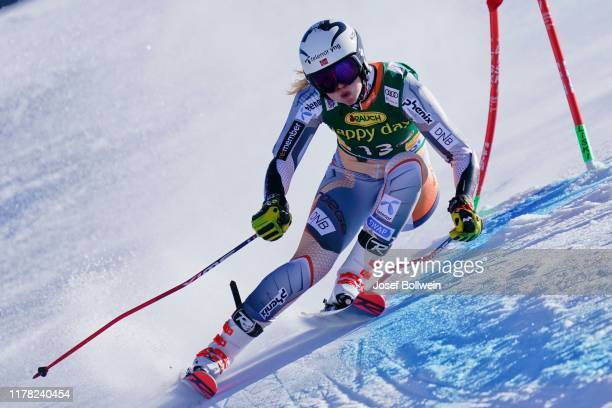 Thea Louise Stjernesund of Norway in the second run of the Alpine Ski World Cup - Women's Giant Slalom on October 26, 2019 in Soelden, Austria.