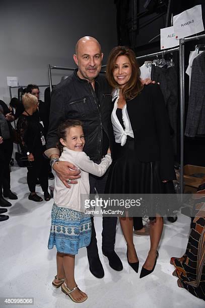 Thea Varvatos John Varvatos and Gina Gershon attend the John Varvatos S/S 2016 runway show during New York Fashion Week Men's at Skylight Clarkson Sq...
