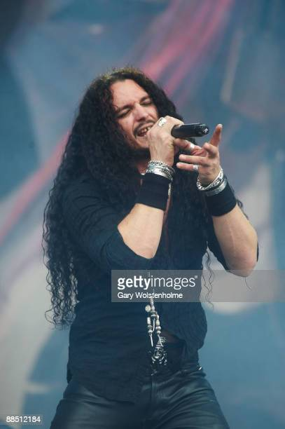 Theart of Dragonforce performs on stage on day 2 of Download Festival at Donington Park on June 13 2009 in Donington England