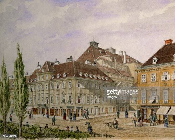 'Theater an der Wien' site of the first performance of Ludwig van Beethoven's only opera 'Fidelio' in 1809 during the French ocupation Anonymous...