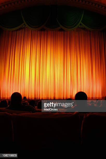 Theater and red curtain