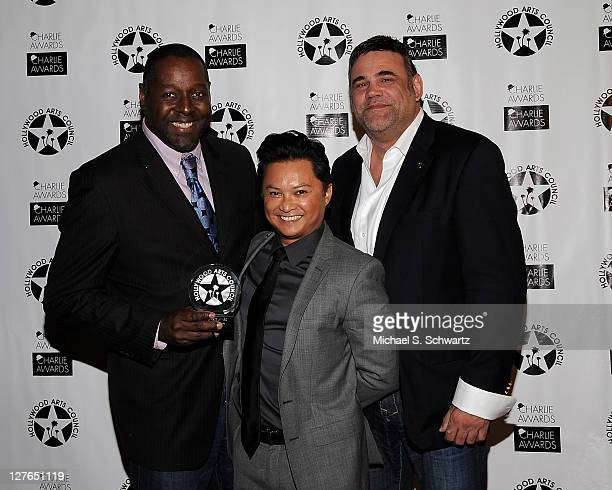 Theater Arts Charlie Awards Honorees Celebration Theatre with the Award Presenter Artistic Director Celebration Theatre Michael A Shepperd Award...