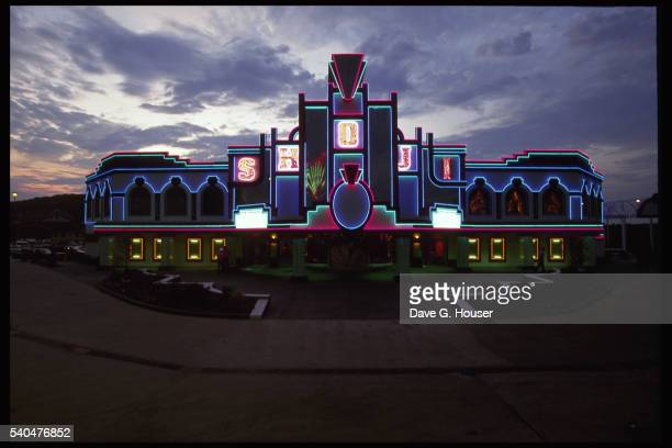 Theater Decorated With Neon Lights
