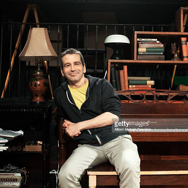 Theater director and stage actor David Cromer is photographed at the Barrow Street Theater for Wall Street Journal on February 7 2012 in New York...