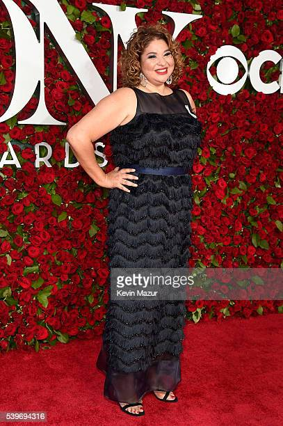 Theater director Liesl Tommy attends the 70th Annual Tony Awards at The Beacon Theatre on June 12 2016 in New York City