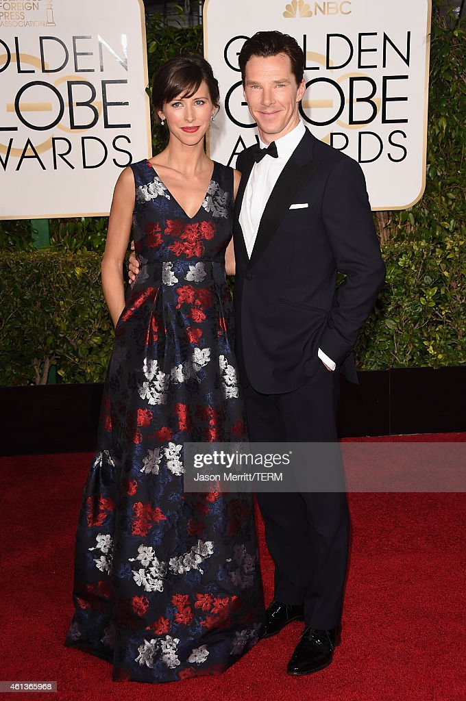 Theater Director Sophie Hunter and actor Benedict Cumberbatch attend the 72nd Annual Golden Globe Awards at The Beverly Hilton Hotel on January 11, 2015 in Beverly Hills, California.