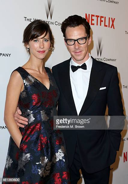 Theater Director Sophie Hunter and actor Benedict Cumberbatch attend the 2015 Weinstein Company and Netflix Golden Globes After Party at Robinsons...