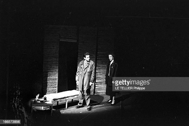 'La Condition Humaine' By Andre Malraux At The Hebertot Theater Paris le 6 décembre 1954 l'adaptation au théâtre HEBERTOT du roman 'La Condition...