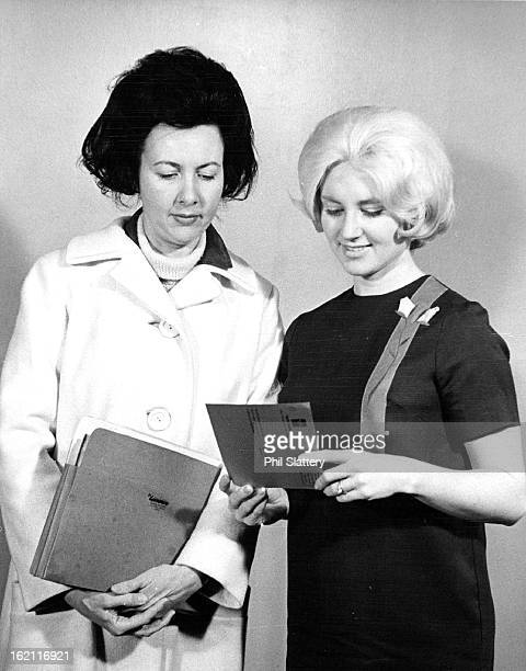 FEB 1965 FEB 25 1965 Theater Party Planners Mrs MS Robinson left and MrsRoger Knight Ill are making arrangements for Stephens College Alumnae and...