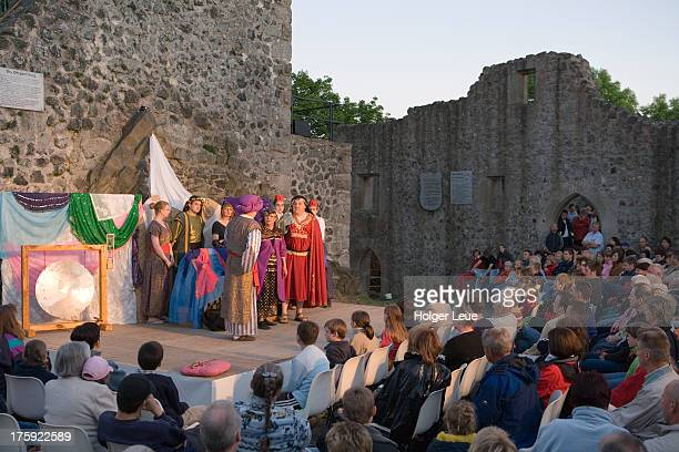 Theater performance at Burg Hauneck castle