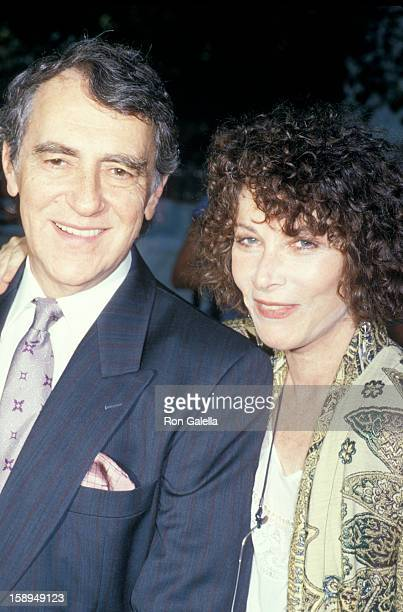Theater Producer Joe Papp and actress Lee Grant attend 25th Anniversary Party for Delacorte Theater on July 28 1987 at Tavern on the Green in New...