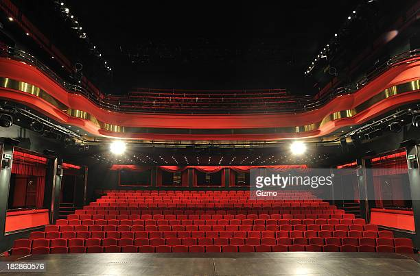 theater seats - stage stock photos and pictures