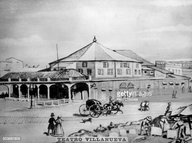 Theater Villanueva On January 22 1869 Flor de Cuba played in musical theatre Cuban Bufo theatre was a form of comedy ribald and satirical with stock...
